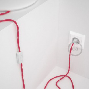 Lamp wiring, TM08 Fuchsia Rayon 1,80 m. Choose the colour of the switch and plug.
