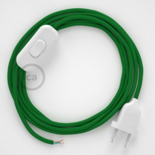 Lamp wiring, RM06 Green Rayon 1,80 m. Choose the colour of the switch and plug.