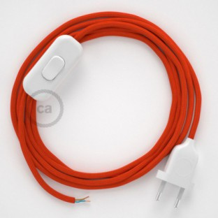Lamp wiring, RM15 Orange Rayon 1,80 m. Choose the colour of the switch and plug.