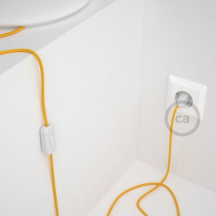 Lamp wiring, RM10 Yellow Rayon 1,80 m. Choose the colour of the switch and plug.