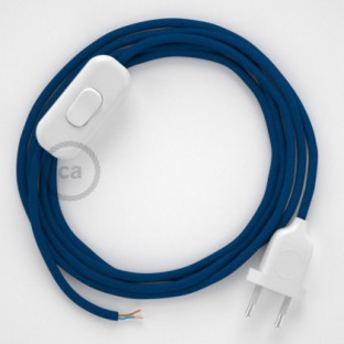 Lamp wiring, RM12 Blue Rayon 1,80 m. Choose the colour of the switch and plug.