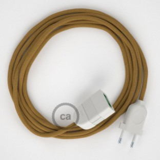 Golden Honey Cotton fabric RC31 2P 10A Extension cable Made in Italy