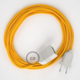 Yellow Rayon fabric RM10 2P 10A Extension cable Made in Italy