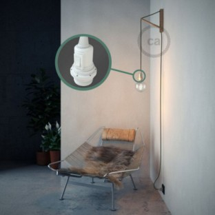 Create your RC63 Grey Green Cotton Snake for lampshade and bring the light wherever you want.