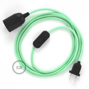 SnakeBis wiring with lamp holder and fabric cable - Milk and Mint Cotton RC34