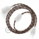 SnakeBis wiring with lamp holder and fabric cable - Black e Whiskey Rayon TZ22