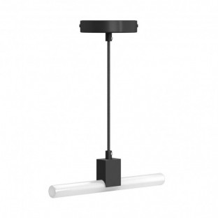 Minimal pendant lamp with S14d Syntax socket and black RM04 Rayon cable