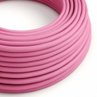 Round Electric Cable covered by Rayon solid colour fabric RM08 Fuchsia