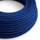 Round Electric Cable covered by Rayon solid colour fabric RM12 Blue