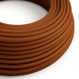 Round Electric Cable covered by Cotton solid colour fabric RC23 Deer