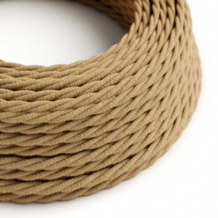 Twisted Electric Cable covered by Jute fabric TN06