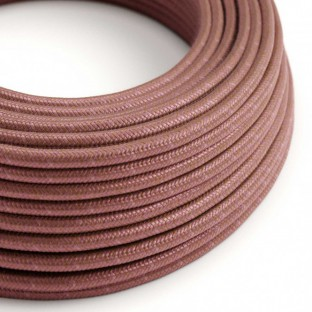 Round Electric Cable covered in Cotton - Marsala RX11