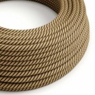 Round Electric Vertigo Cable covered by Tobacco Jute and Cotton ERD21