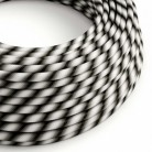 Round Electric Vertigo HD Cable covered by Mr Grey fabric ERM63