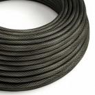 Round Electric Vertigo HD Cable covered by Optical Black and Grey fabric ERM67