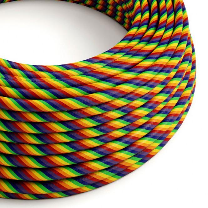 Round Electric Vertigo HD Cable covered by Rainbow fabric ERM68