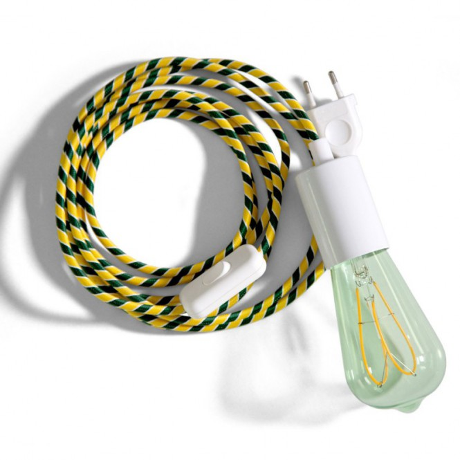 SnakeBis wiring with lamp holder and fabric cable - Springbok ERM69