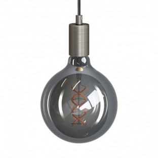 Pendant lamp with fabric cable and metal details - Made in Italy