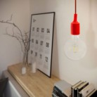 Pendant with fabric cable and silicone details - Made in Italy