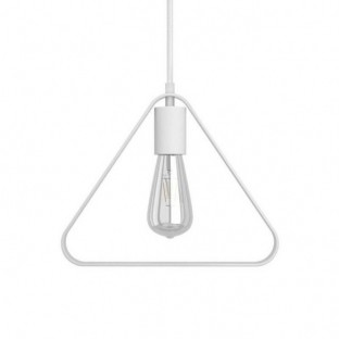Pendant lamp with fabric cable, Duedì Apex lampshade and metal details - Made in Italy