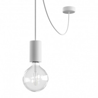 EIVA ELEGANT Outdoor pendant lamp with 5 mt textile cable, decentralizer, ceiling rose and lamp holder IP65 water resistant