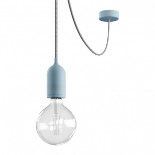EIVA PASTEL Outdoor pendant lamp with 5 mt textile cable, decentralizer, ceiling rose and lamp holder IP65 water resistant