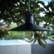 EIVA Outdoor pendant lamp for lampshades with 1,5 mt textile cable, silicone ceiling rose and lamp holder IP65 water resistant