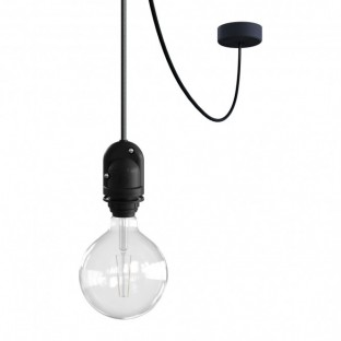 EIVA Outdoor pendant lamp for lampshade with 5 mt textile cable, decentralizer, silicone ceiling rose and lamp holder IP65