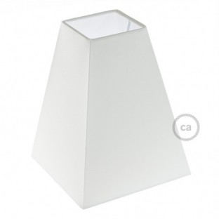 Squared pyramid fabric lampshade with E27 fitting, 16x16 cm h20 cm - 100% Made in Italy