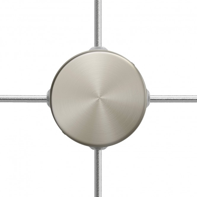 Mini cylindrical metal 4-side hole ceiling rose kit (junction box)