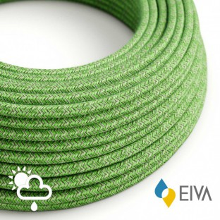Outdoor round electric cable covered in Cotton Pixel Bronte SX08 - IP65 suitable for EIVA system