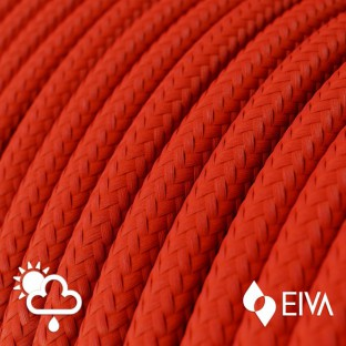 Outdoor round electric cable covered in Red Rayon SM09 - IP65 suitable for EIVA system