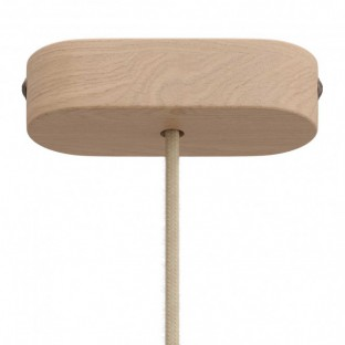 Oval wooden ceiling rose kit