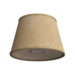 Impero fabric lampshade with E27 fitting for table or wall lamp - Made in Italy