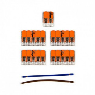 WAGO connector kit compatible with 2x cable for 7 hole ceiling rose