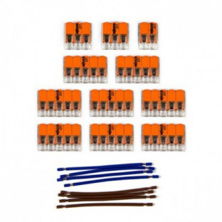 WAGO connector kit compatible with 2x cable for 14 hole ceiling rose