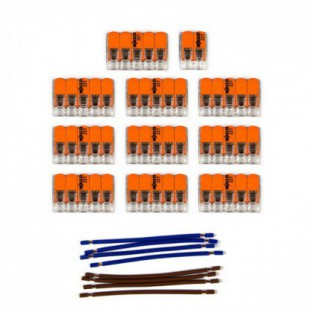WAGO connector kit compatible with 2x cable for 15 hole ceiling rose