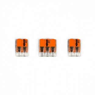 WAGO connector kit compatible with 3x cable for 1 hole ceiling rose