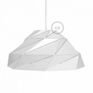 Nuvola Lampshade in shiny white metal with E27 lamp holder
