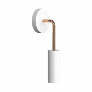 Fermaluce Metal, metal wall light with Tub-E14 and bent extension