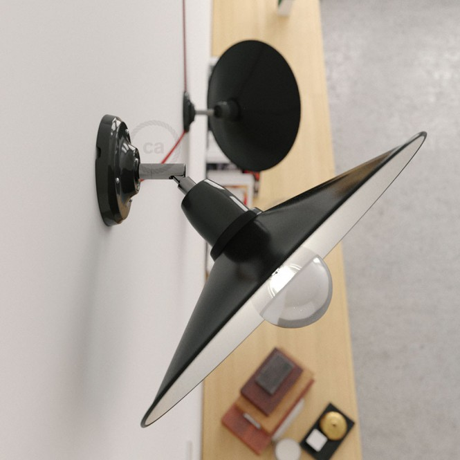 Fermaluce 90° the adjustable porcelain wall flush with metal Swing lampshade