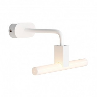 Wall lamp with Syntax S14d lamp holder, L-shaped arm and oval wooden ceiling rose