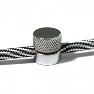 Sarè - Wall mounting, metal cable clip for fabric cables