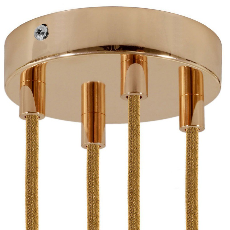 SMART cylindrical metal 4-hole ceiling rose kit - compatible with voice assistants