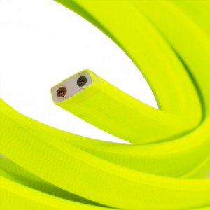 Electric cable for String Lights, covered by Rayon fabric Yellow Fluo CF10
