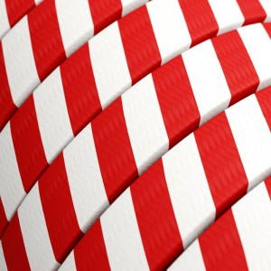Electric cable for String Lights Vertigo HD, covered by Candy Cane fabric ECM39