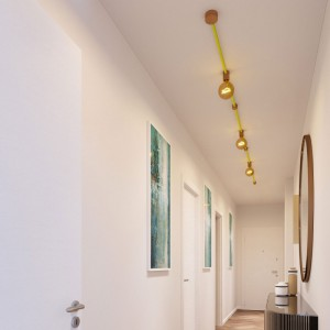 Filé System Linear Kit - with 5m string light cable and 7 indoor wooden components
