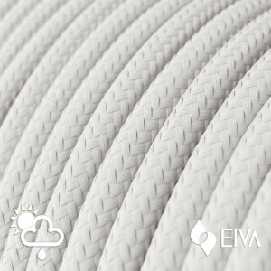 Outdoor round electric cable covered in White Rayon SM01 - IP65 suitable for EIVA system