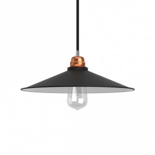 Swing enamelled metal lampshade with E27 fitting