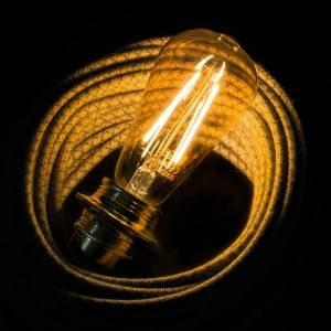 LED Golden Light Bulb - Edison ST64 Long Filament - 4W E27 Decorative Vintage 2000K
